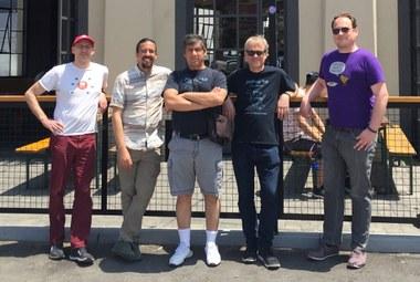 Screenshot of Jazkarta crew in front of Highland Park Brewery in LA