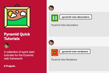Screenshot of Pyramid Quick Tutorial in Glitch