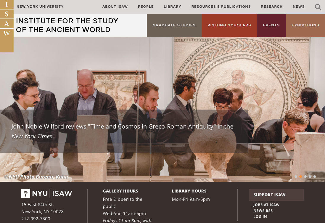 ISAW Website Redesign