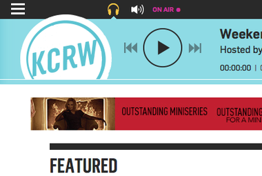 Screenshot of KCRW.com